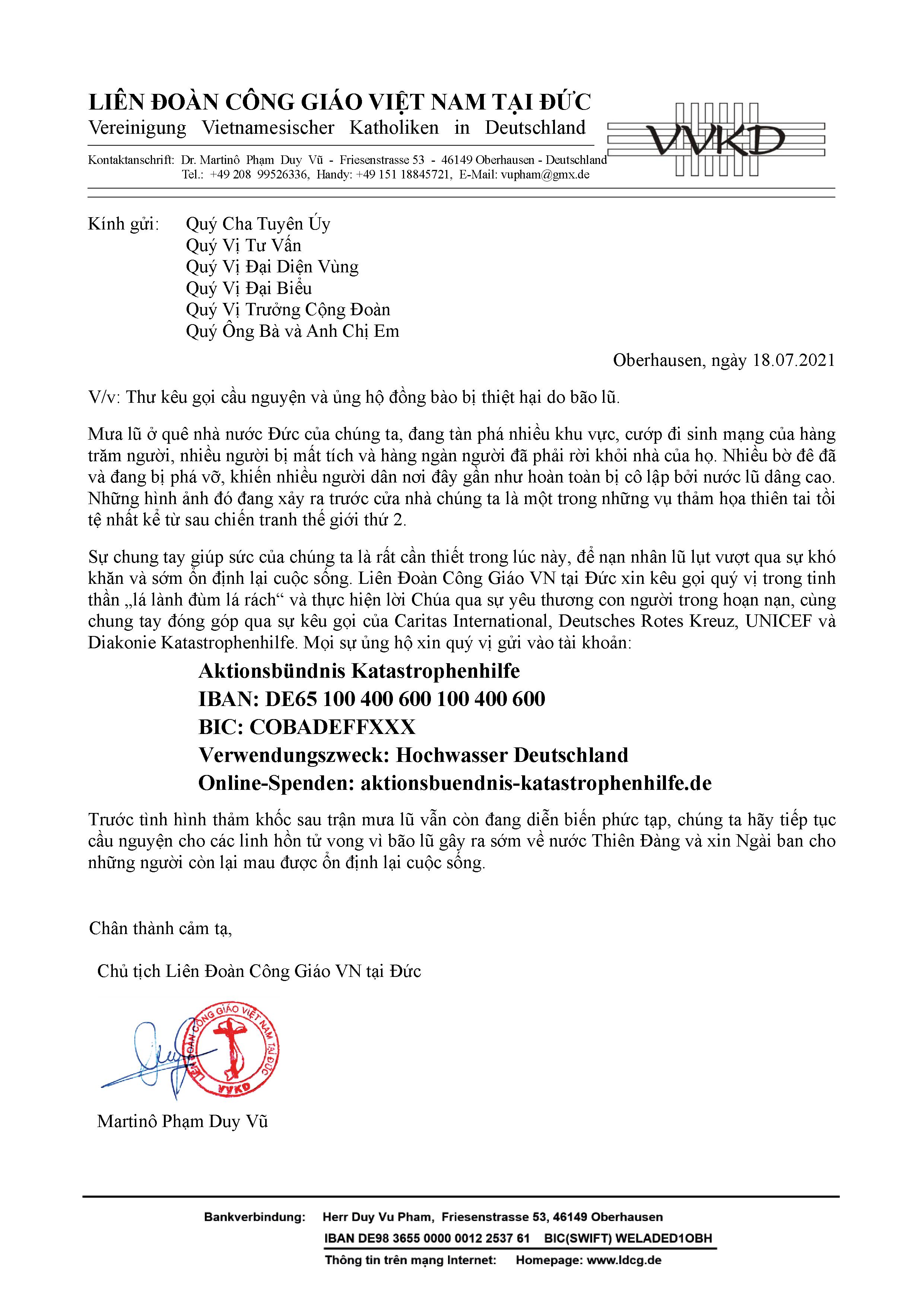 LDCG Hilfsaktion Hochwasser Deutschland
